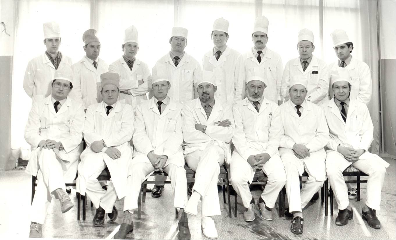 Кафедра факультетской хирургии в 1988 году
