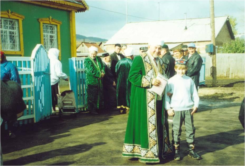 Открытие мечети в родной деревне.